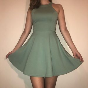 Windsor pastel green halter skater dress
